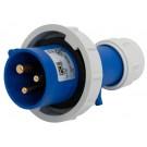 01392-6 IP67 20A PLUG 2P3W 250V 6h BLU