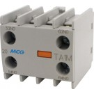 MINI AUX CONT BLOCK 2NO+2NC FRONT MTD
