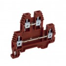 TERM BLK 2TR RED SCREW AWG 26-10